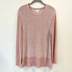 NWT Style & Co Femme Charm pink sweater M